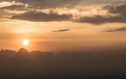 Puesta del sol de Bogotá foto de archivo
