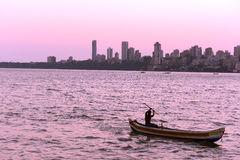 Puesta del sol de Bombay Imágenes de archivo libres de regalías