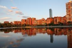 Puesta del sol de Boston Fotografía de archivo libre de regalías