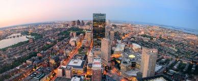 Puesta del sol de Boston Foto de archivo libre de regalías