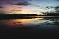 Puesta del sol de Brisbane Imagen de archivo libre de regalías