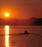Puesta del sol de Córcega Fotos de archivo libres de regalías