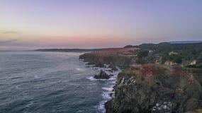 Puesta del sol de California foto de archivo