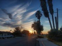 Puesta del sol de California Imagen de archivo