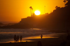 Puesta del sol de California Imagen de archivo libre de regalías