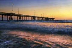 Puesta del sol de California fotos de archivo