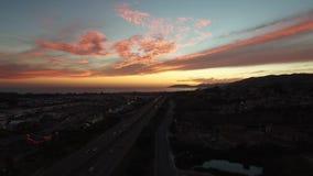 Puesta del sol de California metrajes