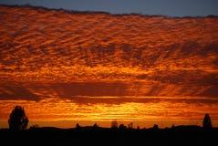 Puesta del sol de California Foto de archivo libre de regalías