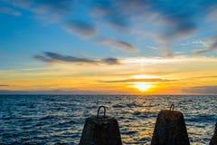 Puesta del sol de Calmness Imágenes de archivo libres de regalías