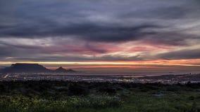 Puesta del sol de Cape Town Fotos de archivo libres de regalías