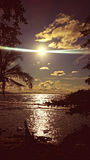 Puesta del sol de Caribean imagenes de archivo