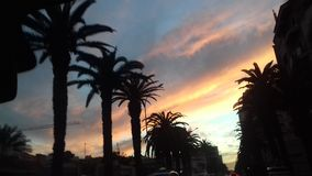 Puesta del sol de Casablanca foto de archivo libre de regalías