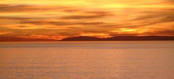 Puesta del sol de Catalina Fotos de archivo