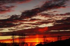 Puesta del sol de Chilliwack Foto de archivo
