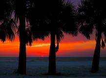 Puesta del sol de Clearwater Imagenes de archivo