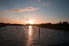 Puesta del sol de Clyde del río Imágenes de archivo libres de regalías