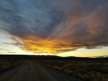Puesta del sol de Colorado imagen de archivo libre de regalías
