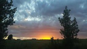 Puesta del sol de Colorado Fotografía de archivo