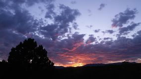 Puesta del sol de Colorado Fotos de archivo