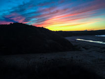 Puesta del sol de Cornualles Imagenes de archivo