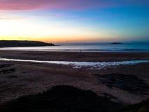 Puesta del sol de Cornualles Imagen de archivo
