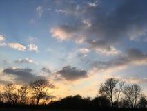 Puesta del sol de Cotswold Imagen de archivo libre de regalías