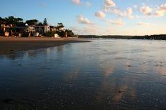 Puesta del sol de Cronulla del carril de la bahía Fotografía de archivo