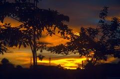 Puesta del sol de Damatic fotos de archivo libres de regalías