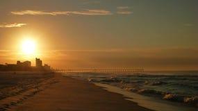 Puesta del sol de Daytona Beach Imagen de archivo