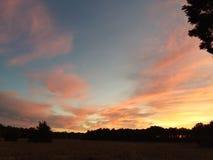 Puesta del sol de Delaware Imagen de archivo