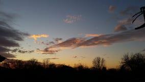 Puesta del sol de diciembre Imagen de archivo libre de regalías