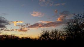 Puesta del sol de diciembre Foto de archivo libre de regalías