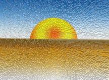 Puesta del sol de Digitaces Imagen de archivo
