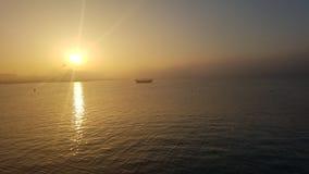 Puesta del sol de Doha Foto de archivo libre de regalías