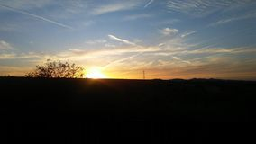 Puesta del sol de domingo Fotografía de archivo