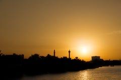 Puesta del sol de Dubai Fotos de archivo