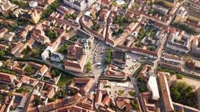 Puesta del sol de Eger, europeo, Hungría Imágenes de archivo libres de regalías