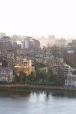 Puesta del sol de El Cairo fotografía de archivo
