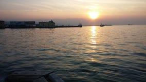 Puesta del sol de Esmirna Imagen de archivo libre de regalías