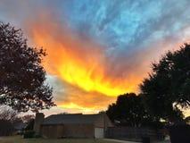 Puesta del sol de estallido Fotos de archivo libres de regalías