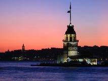 Puesta del sol de Estambul Imagen de archivo libre de regalías