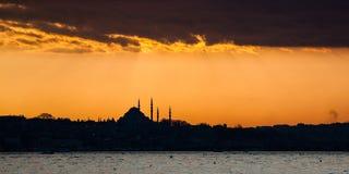 Puesta del sol de Estambul Foto de archivo