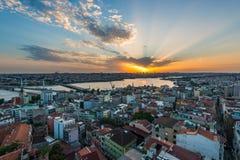 Puesta del sol de Estambul Foto de archivo libre de regalías