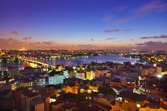 Puesta del sol de Estambul Fotos de archivo libres de regalías