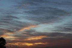 Puesta del sol de Fenland Imagen de archivo