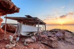 Puesta del sol de Formentera Fotos de archivo