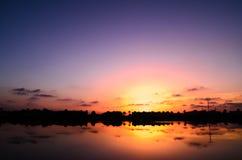 Puesta del sol de Formentera Imagen de archivo libre de regalías