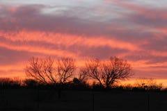 Puesta del sol de Fredericksburg Fotografía de archivo