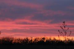 Puesta del sol de Fredericksburg Fotografía de archivo libre de regalías