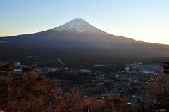 Puesta del sol de Fuji Imagen de archivo libre de regalías